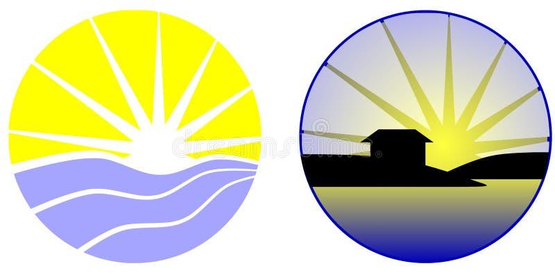Logos de mer illustration libre de droits