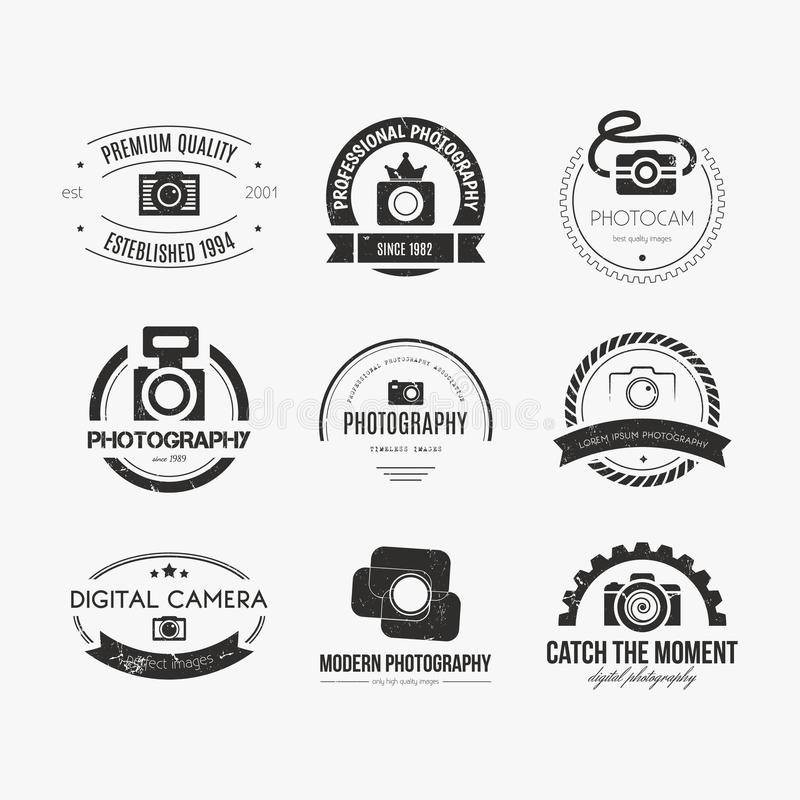 Logos de photographie illustration de vecteur