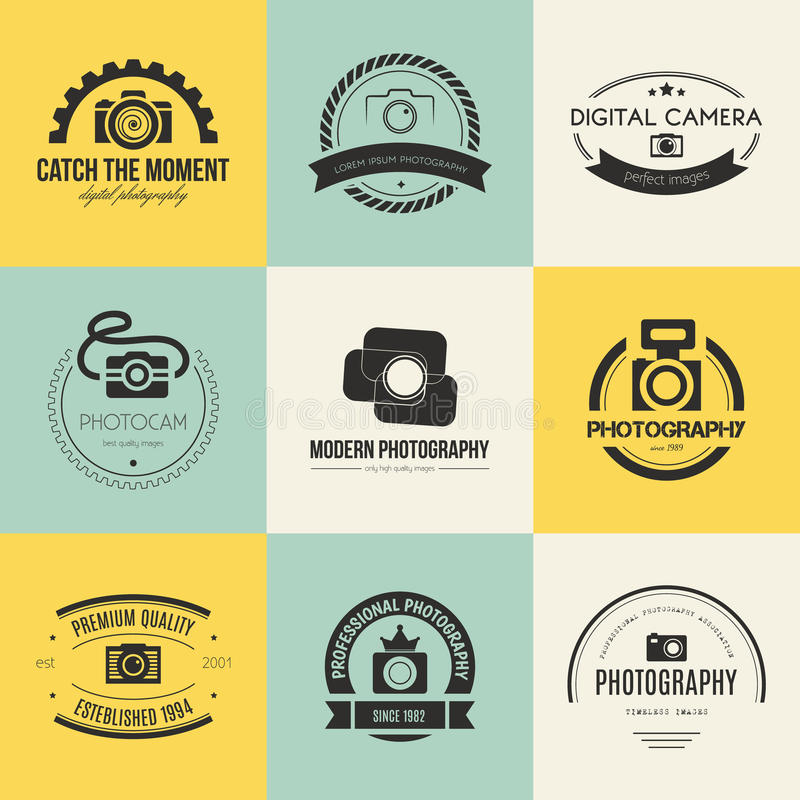 Logos de photographie illustration stock