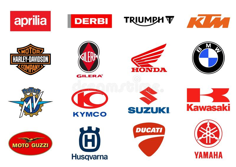 Logos de producteurs de motos illustration libre de droits