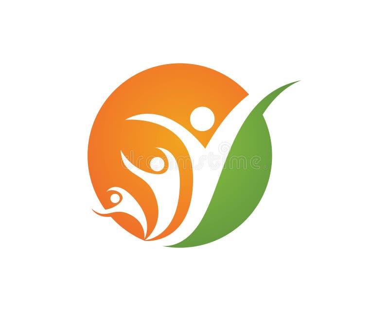 Logos de soin de Familiy illustration de vecteur