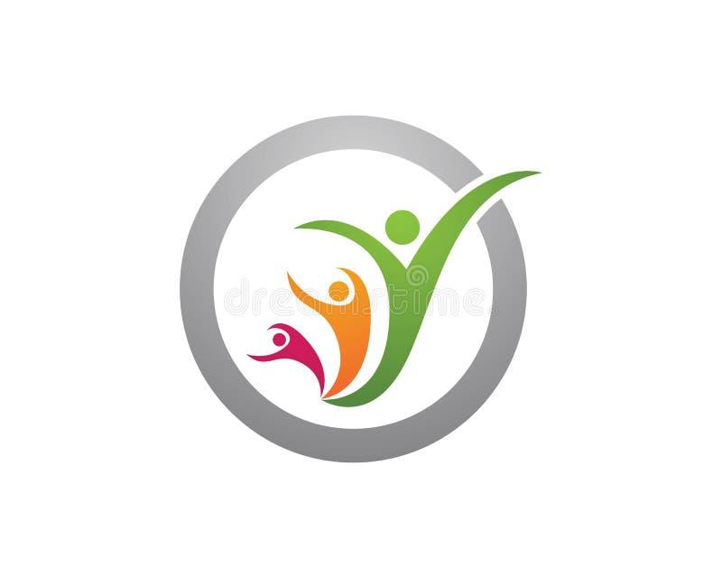 Logos de soin de Familiy illustration libre de droits