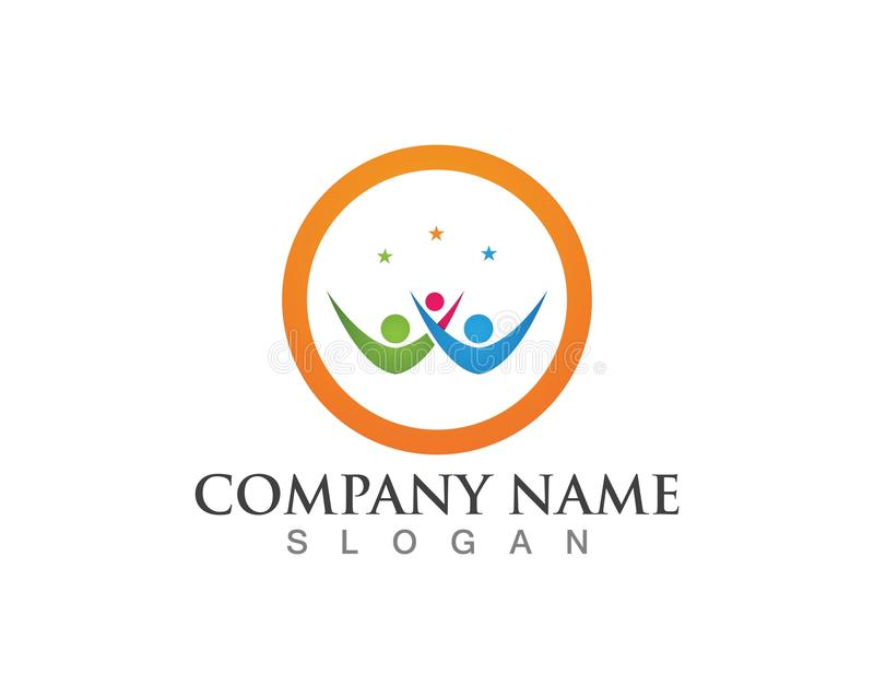 Logos de soin de famille illustration libre de droits