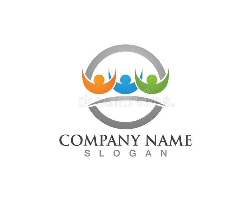 Logos de soin de famille illustration stock