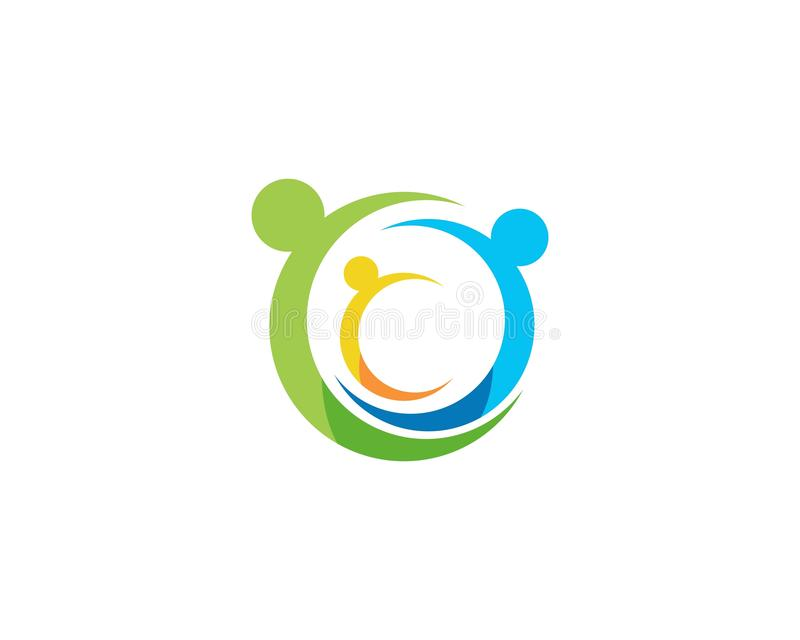 Logos de soin de famille illustration de vecteur