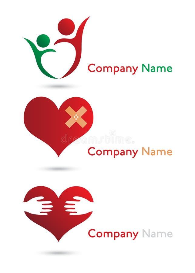 Logos de soins de santé illustration de vecteur