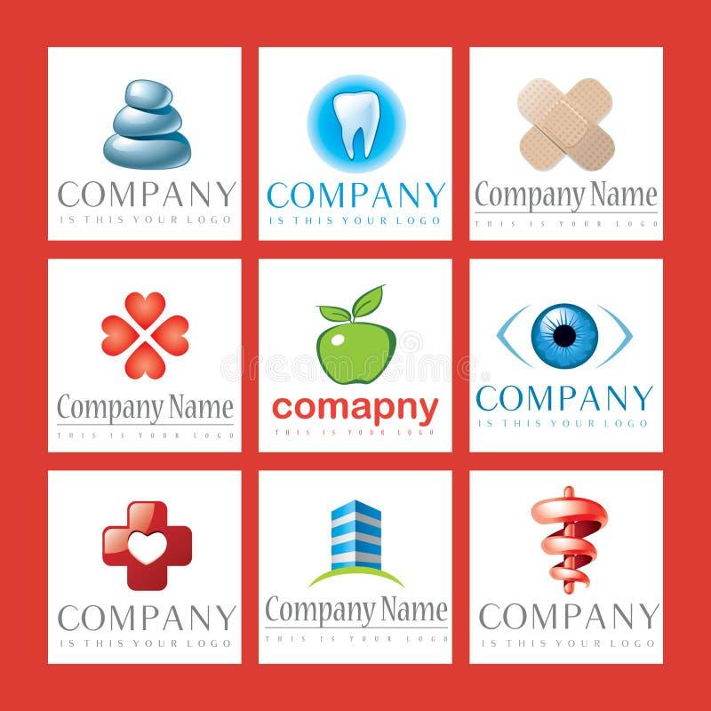 Logos de soins de santé illustration libre de droits