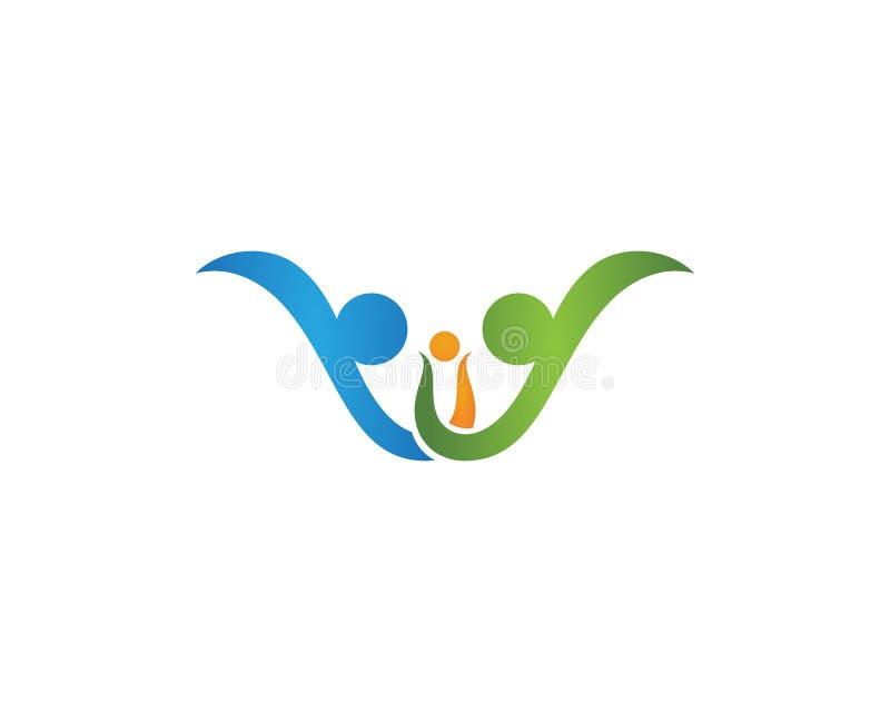 Logos de soins de santé communautaires illustration libre de droits
