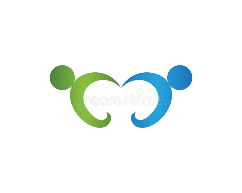 Logos de soins de santé communautaires illustration stock