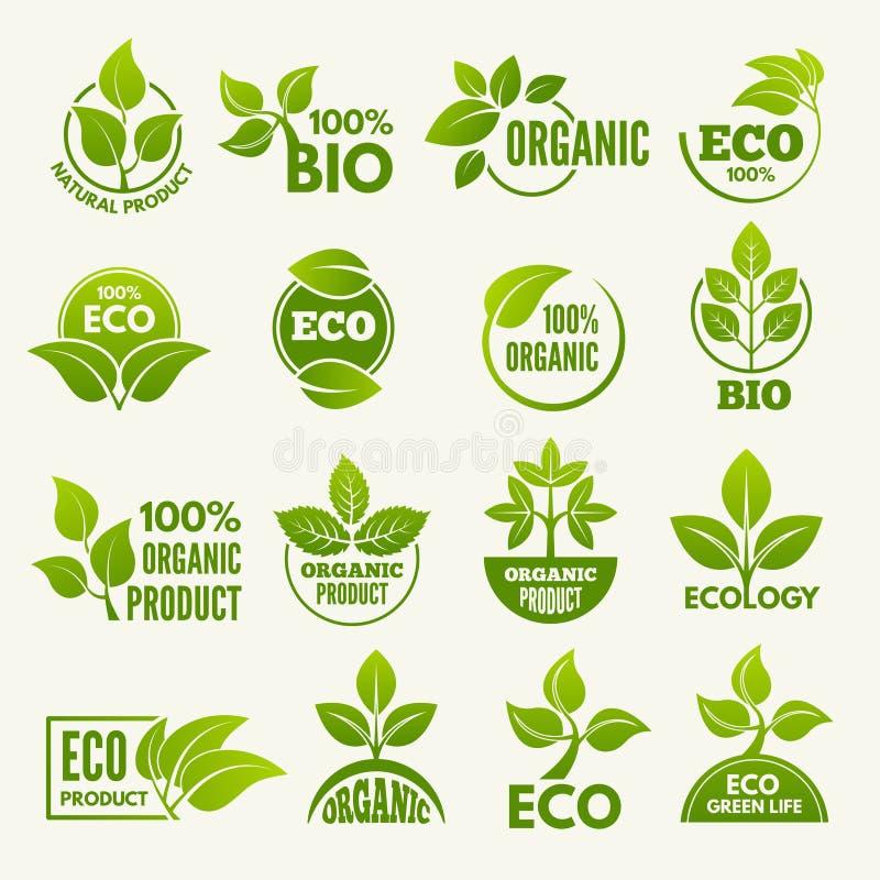 Logos de style d'eco Concepts d'affaires pour protéger la nature illustration stock