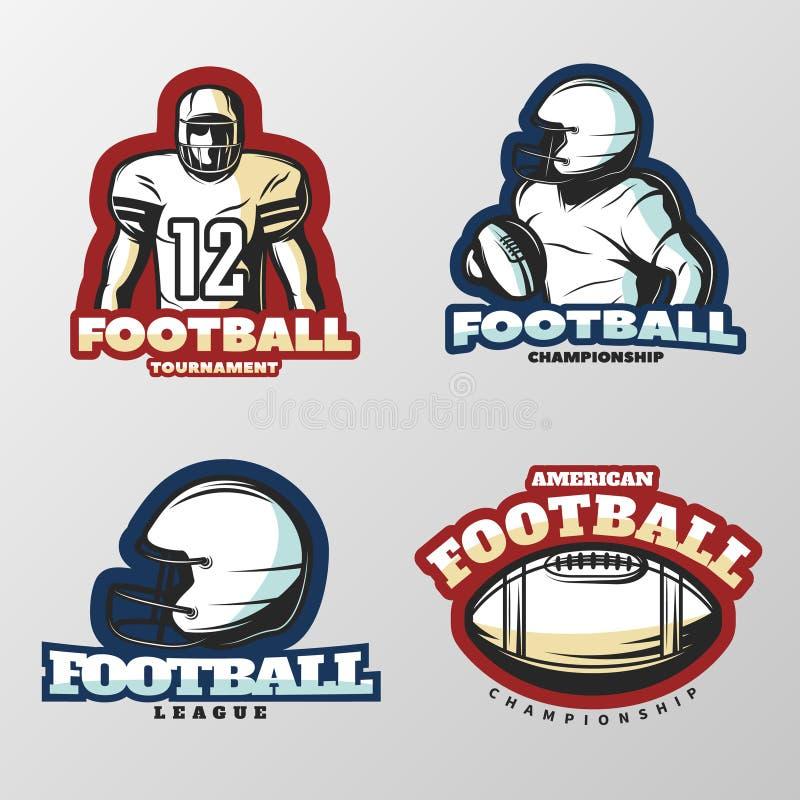 Logos de tournois de football américain illustration libre de droits