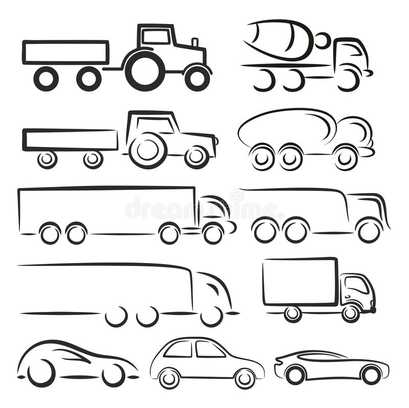 Logos de transport illustration libre de droits