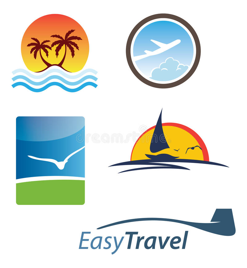 Logos de vacances illustration libre de droits