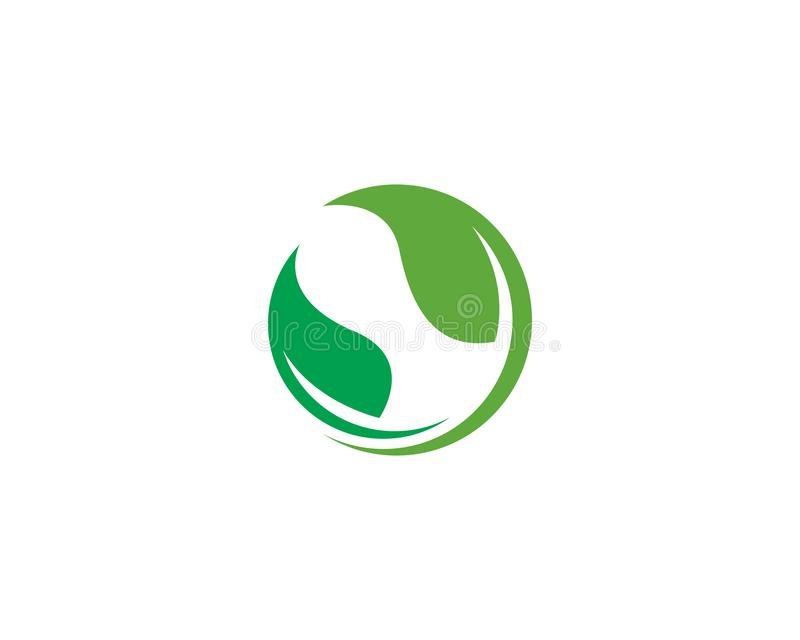 Logos de vecteur vert d'?l?ment de nature d'?cologie de feuille illustration de vecteur