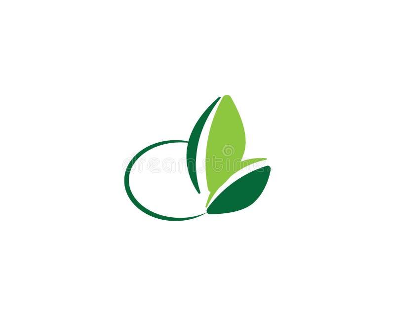 Logos de vert illustration stock