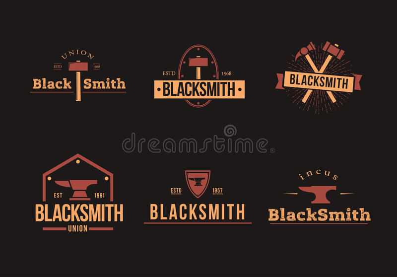 Logos del fabbro messo immagine stock libera da diritti