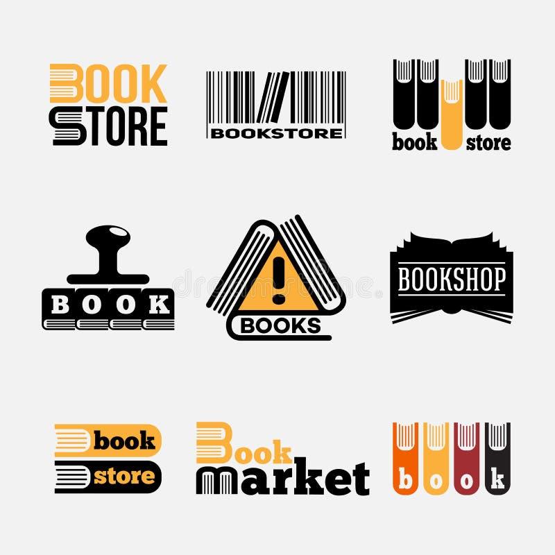 Logos del libro immagini stock libere da diritti