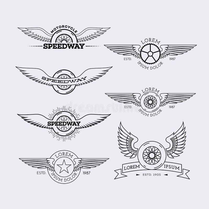 Logos del profilo messo royalty illustrazione gratis