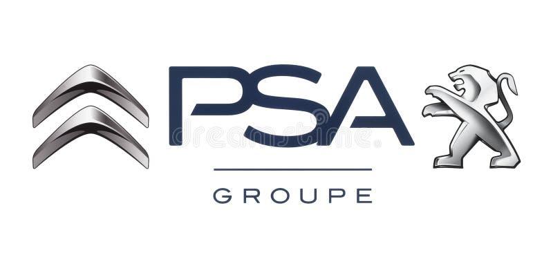 Logos dell'alleanza delle case automobilistiche: Citroen e Peugeot Allianc