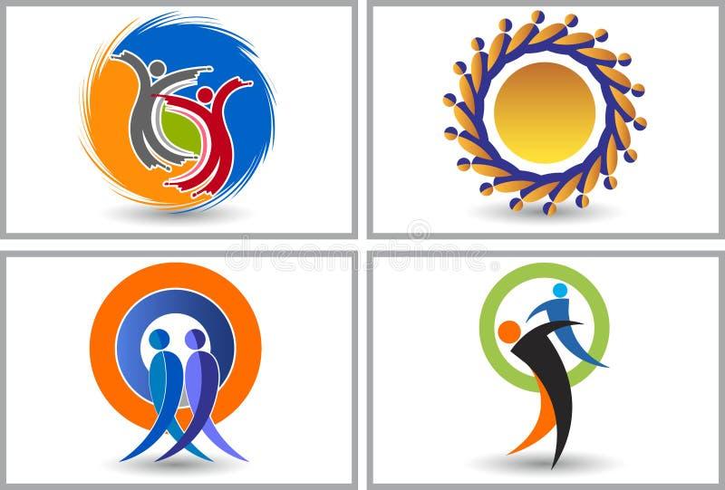 Logos dell'amico illustrazione vettoriale