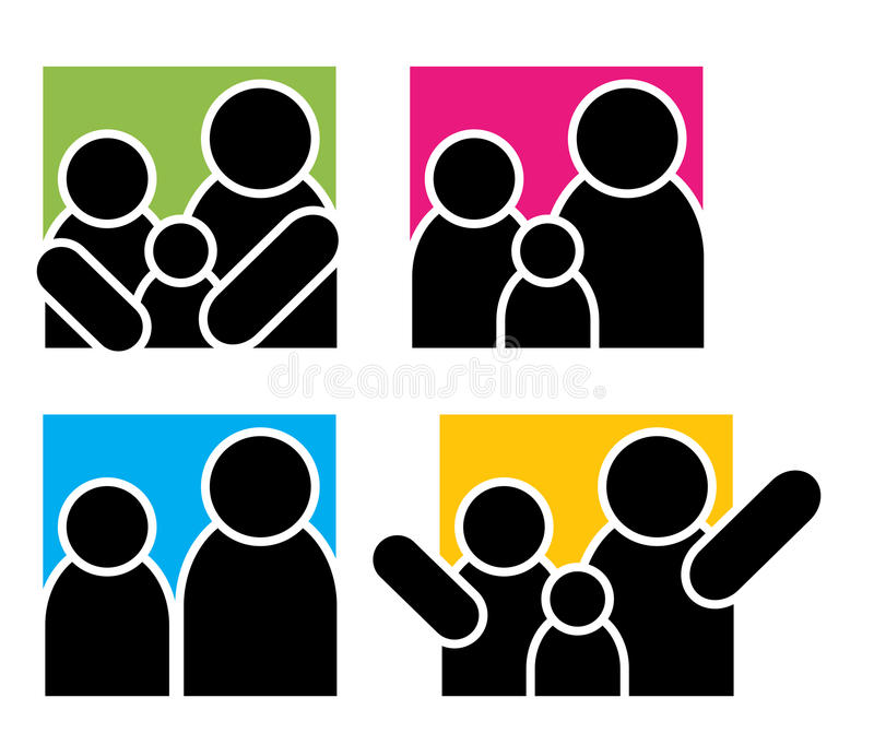 Logos della famiglia illustrazione vettoriale