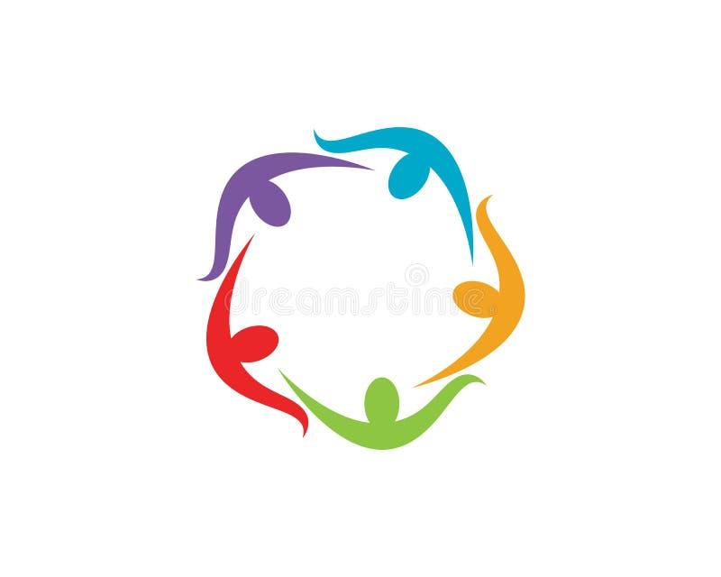 Logos della gente della Comunità illustrazione vettoriale
