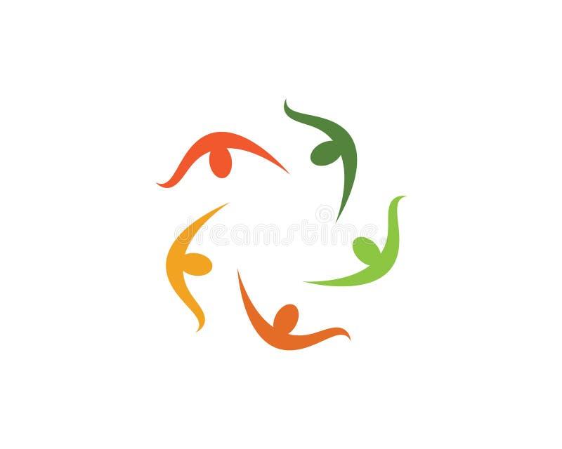 Logos della gente della Comunità royalty illustrazione gratis