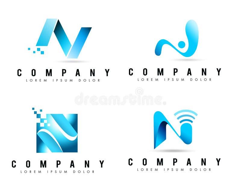 Logos della lettera N illustrazione di stock
