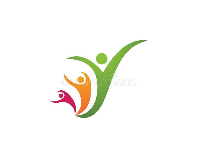 Download Logos di cura di Familiy illustrazione vettoriale. Illustrazione di bambino - 117978324