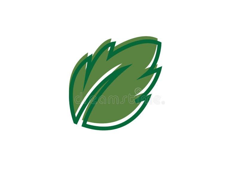 Logos di ecologia verde della foglia dell'albero immagine stock