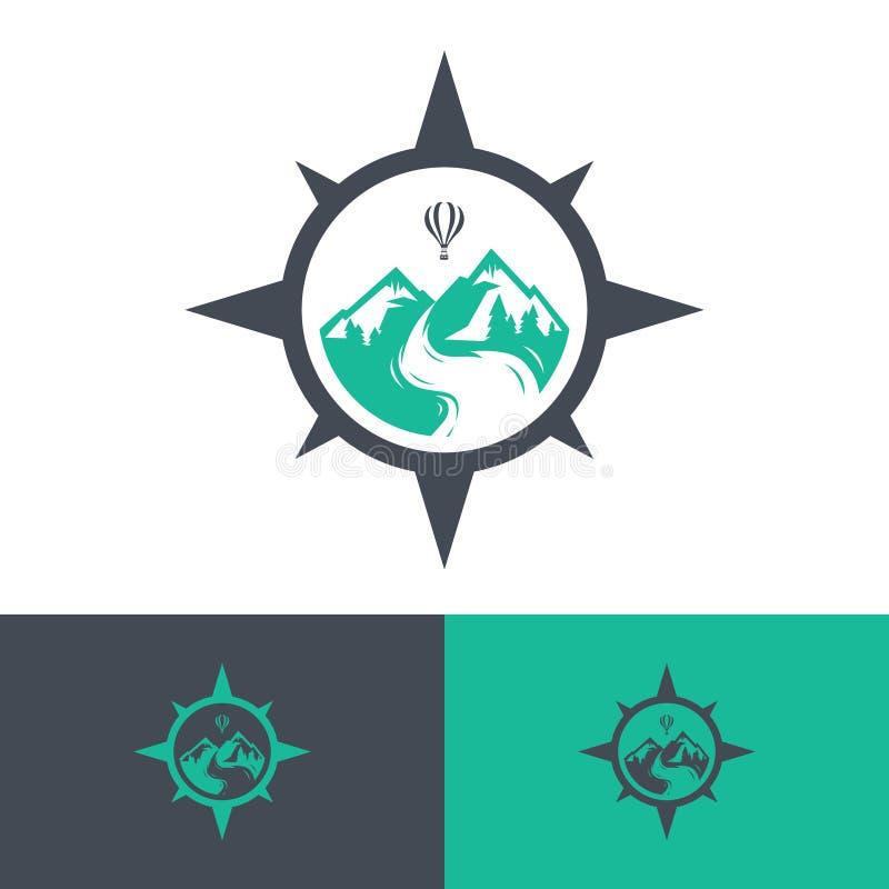 Logos di viaggio di vettore illustrazione di stock