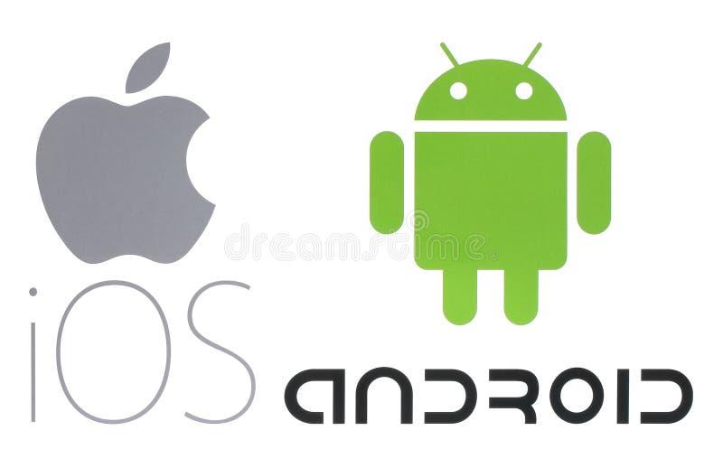 Logos du système d'exploitation populaires photos libres de droits