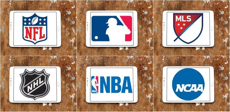 Logos ed icone di sport degli S.U.A. illustrazione vettoriale