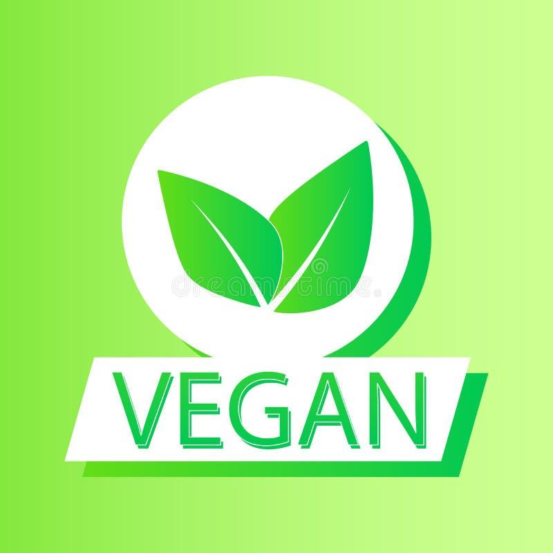 Logos et insignes organiques, label, ?tiquette Lame verte sur le blanc Illustration de vecteur illustration de vecteur