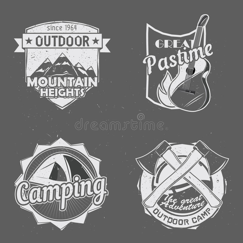 Logos extérieurs de voyage illustration libre de droits