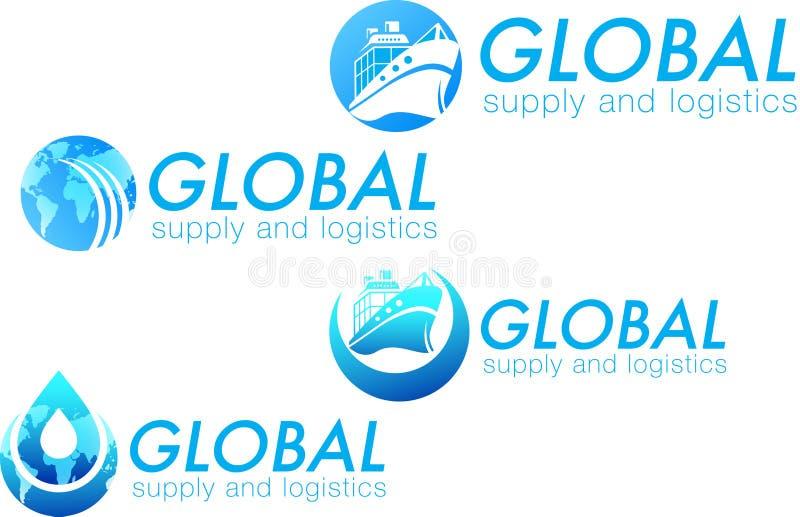 Logos für Versorgung und Logistik stockfotos