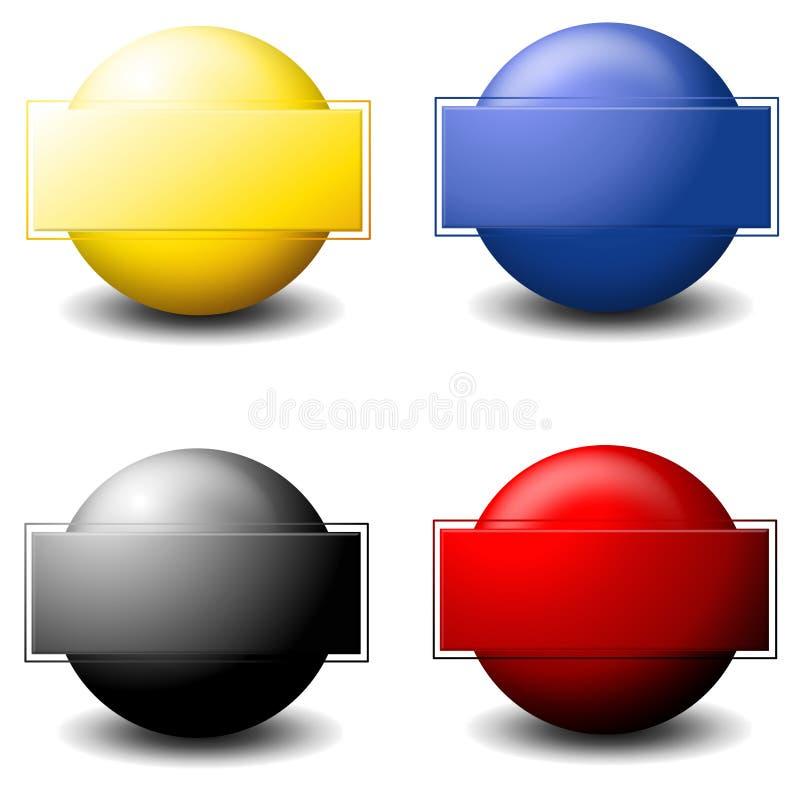 Logos formés par sphère illustration libre de droits
