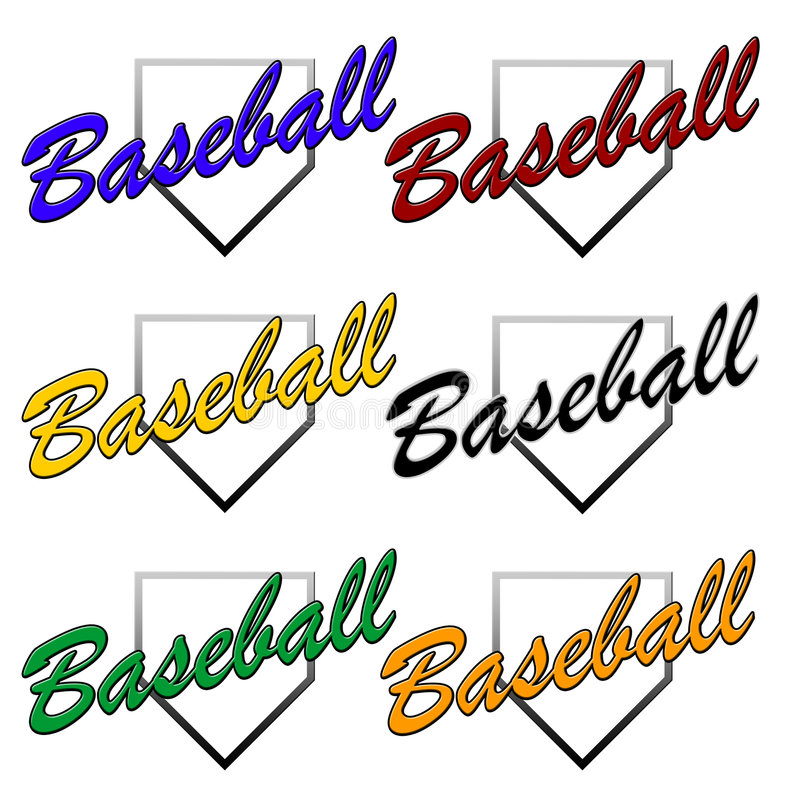 Logos génériques de base-ball illustration stock