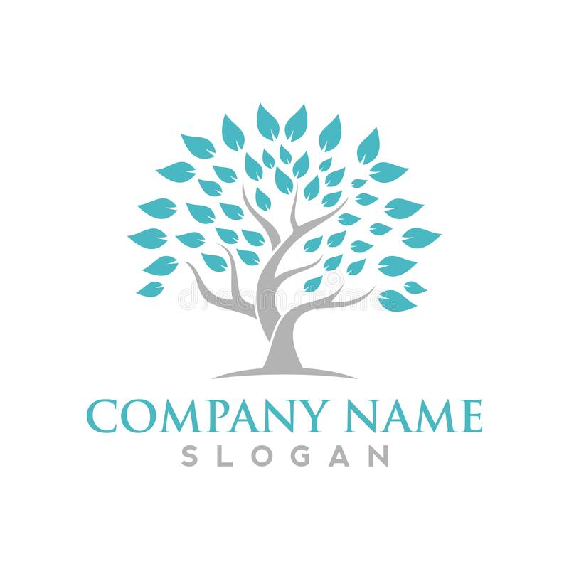 Logos of green leaf ecology nature element vector icon. For business sign royalty free illustration