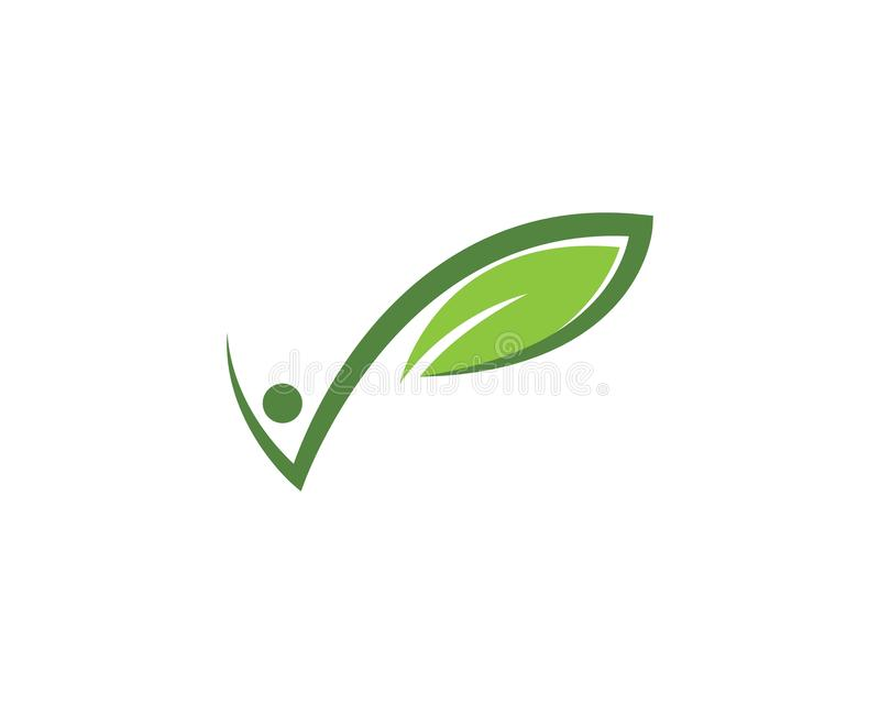 Logos of green leaf ecology nature element vector. Icon royalty free illustration