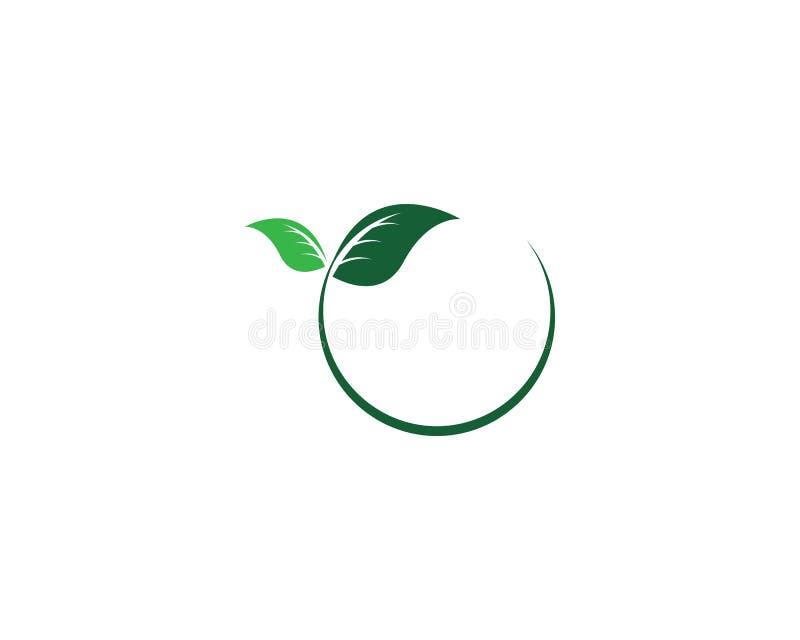 Logos of green Tree leaf ecology stock image