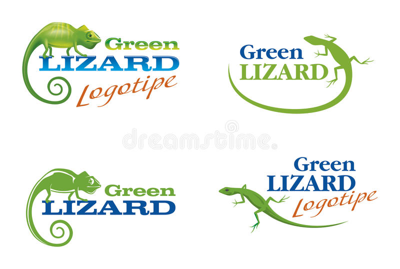 Logos With A Lizard And Chameleon Stock Photography