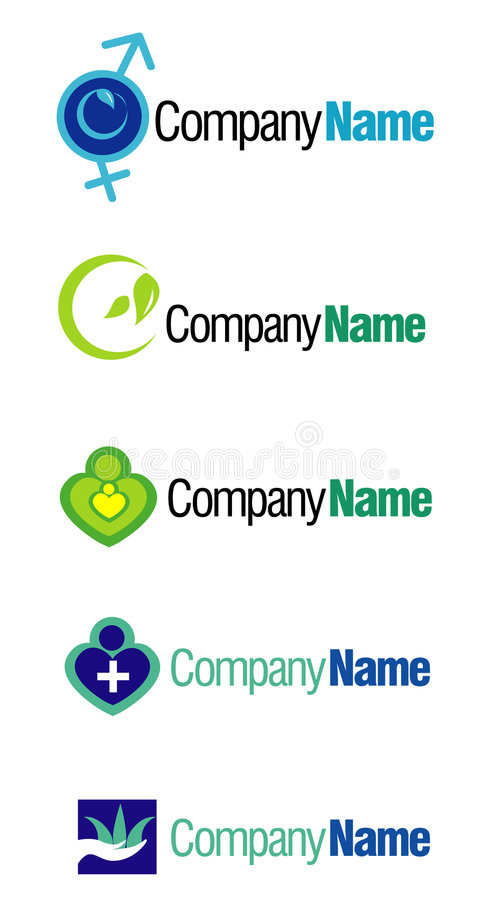 Company logo graphics. Illustrated graphics for company logo on white royalty free illustration