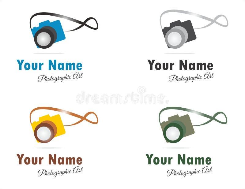 Logos ou icônes photographiques d'arts photo libre de droits