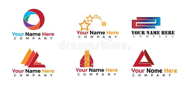 Logos réglés - 6 styles différents illustration libre de droits