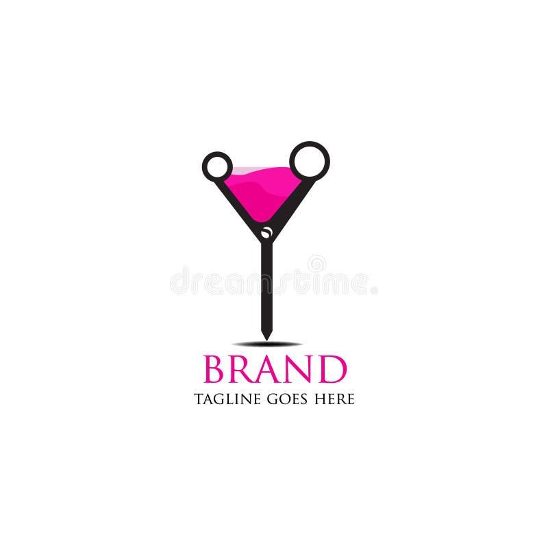 Logos semplice ed attraente y del caffè e del barbiere illustrazione vettoriale