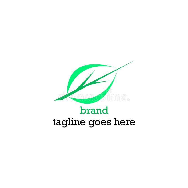 Logos simples et attrayants de feuille et de brindille illustration stock