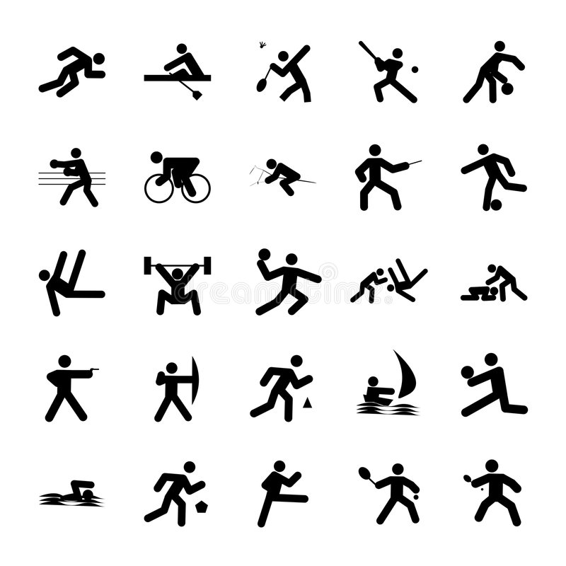 Download Logos Of Sports Stock Image - Image: 5824991
