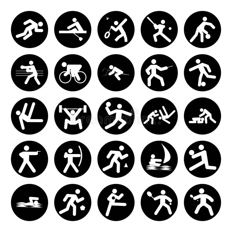 Download Logos of sports stock illustration. Image of handball - 5825040