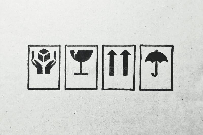 Logos sur un conseil vide photo stock